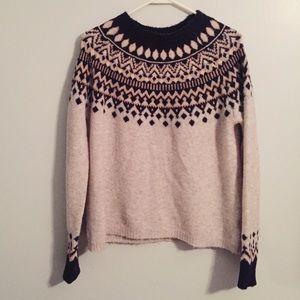 Joie Deedra Fair Isle Wool Blend Sweater